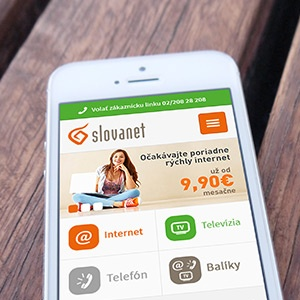 Slovanet mobile web